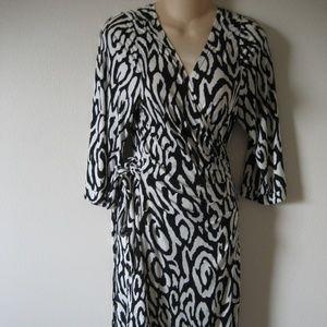 Career wrap dress plus size  16